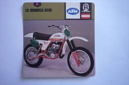 Sports Moto - Carte Fiche Moto - KTM Le Miracle ( Description Au Dos De La Carte ) - Cartoline