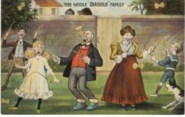 Whole Diablo Family, Humor, Game Toy, C1900s Vintage Postcard - Games & Toys