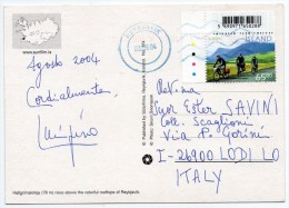 ICELAND - REYKJAVIK / THEMATIC STAMP-EUROPA CEPT 2004-CYCLING WITH BAR CODE - Islanda