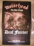 MUSIQUE - MOTÖRHEAD - GRANDE AFFICHE SORTIE NEW SINGLE - DEAF FOREVER - 152x100cm - Posters