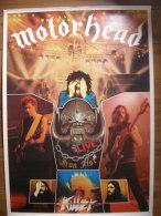 MUSIQUE - MOTÖRHEAD - POSTER - IRON FIST KILLERS AVEC BRIAN ROBERTSON - 86x61cm - Plakate & Poster