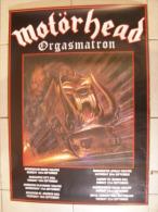 MUSIQUE - MOTÖRHEAD - AFFICHE CONCERT - ORGASMATRON TOUR - 87x61cm - Manifesti & Poster