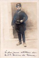 Carte Photo , Le Plus Jeune Artilleur De La 62eme Division De Reserve..... - Guerre 1914-18