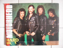 MUSIQUE - MOTÖRHEAD - POSTER HARD ROCK MAG 1984 (RECTO) / DAVID LEE ROTH GROUP (VERSO) - 41x35cm - Manifesti & Poster