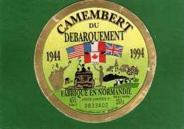 Etiquette - Fromage - Camembert Du Débarquement 1944-1994 Série Limitée Numérotée (0833402) - Fromage