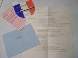 @ POCHETTE PUB POUR WEEK END SUR LE PAQEBOT FRANCE EN 1963 - Programmes
