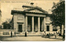75008 PARIS - Église St-Philippe Du Roule - Beaux Chevaux - Existe Avec Le N° 427 - Arrondissement: 08