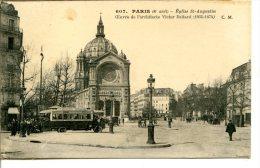 75008 PARIS - Église St-Augustin - Œuvre De L'architecte Baltard - Bus à Plateforme Trocadéro-Gare De L'Est - Arrondissement: 08