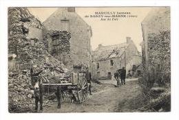 AISNE  /  MARCILLY , Hameau  De  BARZY-sur-MARNE  /  RUE  DU  PORT  ( Attelage D'âne, Chien, Transport De Pierres ) - France