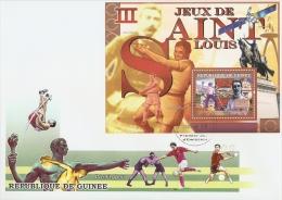 gu0706cF Guinea 2007 Sports Olympic III Games Saint Louis 1904 s/s FDC Michel:4607 / Bl.1121 Space Horse