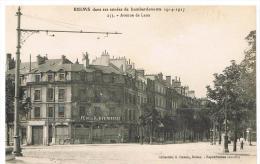 Reims (561) Dans Les Années De Bombardement : Avenue De Laon - Guerre 1914-18