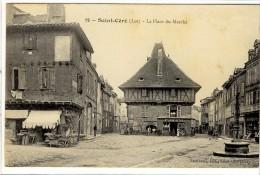 Carte Postale Ancienne Saint Céré - La Place Du Marché - Autres Communes