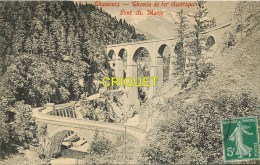 Cpa 74 Chamonix, Chemin De Fer électrique, Pont Ste Marie, éd à La Reine Des Cartes Postales, Affranchie 1918 - Chamonix-Mont-Blanc