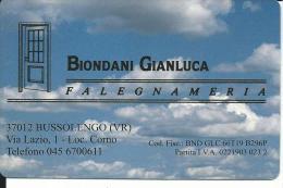 CAL554 - CALENDARIETTO 1999 - BIONDANI GIANLUCA - FALEGNAMERIA - Formato Piccolo : 1991-00