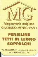 CAL556 - CALENDARIETTO 1999 - MG - FALEGNAMERIA ARTIGIANA - LEGNARO PADOVA - Formato Piccolo : 1991-00