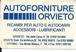 CAL557 - CALENDARIETTO 1999 - MG - AUTOFORNITURE ORVIETO - - Formato Piccolo : 1991-00