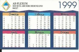 CAL561 - CALENDARIETTO 1999 - TIPOLITOGRAFIA SOLDINI - CARPENEDOLO BRESCIA - Formato Piccolo : 1991-00