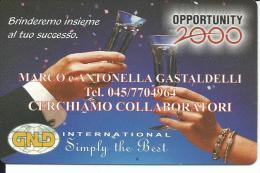 CAL566 - CALENDARIETTO 1999 - OPPORTUNITY 2000 - - Formato Piccolo : 1991-00