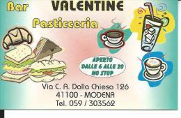 CAL567 - CALENDARIETTO 1999 - VALENTINE BAR PASTICCERIA - MODENA - Formato Piccolo : 1991-00