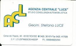 """CAL568 - CALENDARIETTO 1999 - ACL - AGENZIA CENTRALE """"LUCE"""" - ROVIGO - Formato Piccolo : 1991-00"""