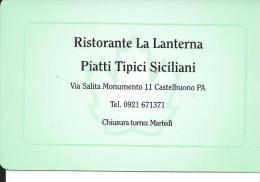 CAL571 - CALENDARIETTO 1999 - RISTORANTE LA LANTERNA - CASTELBUONO PALERMO - Formato Piccolo : 1991-00