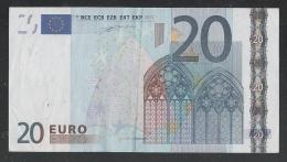 EURO - PORTOGALLO - 2002 - BANCONOTA DA 20 EURO DUISENBERG SERIE M (U006F3) -CIRCOLATA-CIRCULATED - IN BUONE CONDIZIONI. - EURO