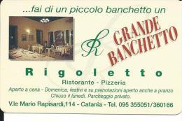 CAL573 - CALENDARIETTO 1999 - RIGOLETTO RISTORANTE -CATANIA - Formato Piccolo : 1991-00