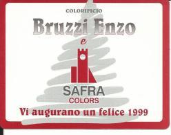 CAL577 - CALENDARIETTO 1999 - COLORIFICIO BRUZZI ENZO - Formato Piccolo : 1991-00