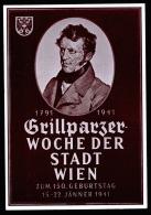 A2373) DR Sonderkarte Grillparzer-Woche Der Stadt Wien 1941 - Deutschland
