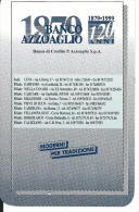 CAL578 - CALENDARIETTO 1999 - BANCO AZZOAGLIO - Formato Piccolo : 1991-00
