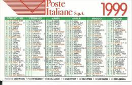 CAL581 - CALENDARIETTO 1999 - POSTE ITALIANE - EUROPRINT - Calendari