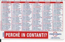 CAL583 - CALENDARIETTO 1999 - PRESTITEMPO - Formato Piccolo : 1991-00