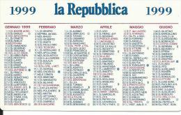 CAL584 - CALENDARIETTO 1999 - LA REPUBBLICA - Formato Piccolo : 1991-00