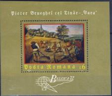 ##O206. Romania 1972. BELGICA'72. Bruegel Painting. Peinture. Gemälde. Michel Block 96.  MNH(**) - Hojas Bloque