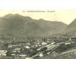 Aigueblanche Vue Dominate Sur Aigueblanche ,la Gare Et La Voei De Chemin De Fer. - Francia