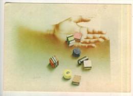 """Arts 1984 Verkerke  Copyright  """"Une Poignée De Bonbons à La Réglisse """" Gallery Card  BE - Fine Arts"""