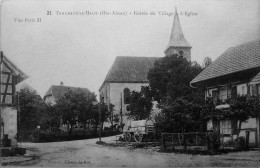 Traubach Le Haut : Entrée Du Village, L´église - France