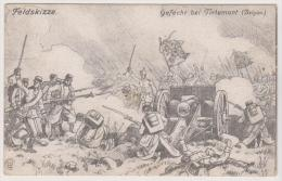 Gefecht Bei Tirlemont, Perwez, Belgien, Feldskizze, WKI - War 1914-18