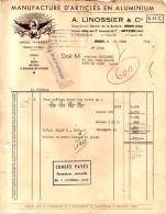 69 1039 BRON RHONE 1958 Article En Aluminium A. LINOSSIER Usines MEYZIEU ISERE & SAINT ROMAIN LES ATHEUX Marque L AI - Frankreich