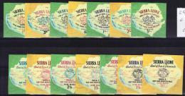 Sierra Leone Yvertnrs: 243/49 + Arienne 13/19 Postfris - Sierra Leone (1961-...)