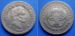 COLUMBIA COLOMBIA  20 (VEINTE) Centavos 1956 SMALL DATE - SIMON BOLIVAR - Colombia