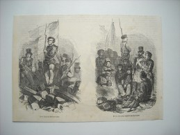 GRAVURE 1848. JOURNEES REVOLUTION DE 1848. EPISODE DES BARRICADES. LE COMBAT. - Estampes & Gravures