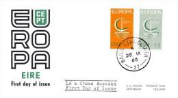 FDC Ierland - 1966 - Blanco / Open Klep - Europa-CEPT