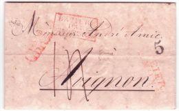 """1831 - Letter From SPEIER ( Spire )  To  Avignon ( France )  """" BAVIERE / PAR / WISSEMBOURG """" Rouge - [1] ...-1849 Prephilately"""