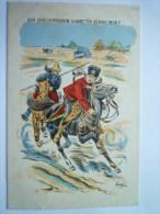 Guerre  14-18 -  Carte Patriotique  :  Ben Quoi  ,  Le Hussard De La MORT  ,  T'en As Donc Peur ? - Patriotic
