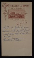 ( Loire-Atlantique / Loire-Inférieure) MENU  LE CROISIC HOSTELLERIE DU FORT F. JOULAIN 1920 ( Hôtel Du Fort ) - Menükarten