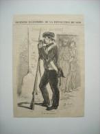 GRAVURE 1848. JOURNEES REVOLUTION DE 1848. UNE SENTINELLE. - Estampes & Gravures