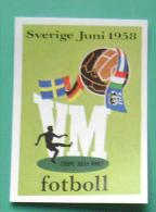1958 SWEDEN WORLD CUP LOGO #13 PANINI FIFA WORLD CUP STORY STICKER SOCCER FUSSBALL FOOTBALL - Panini