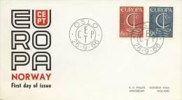 FDC Noorwegen - 1966 - Blanco / Open Klep - Europa-CEPT
