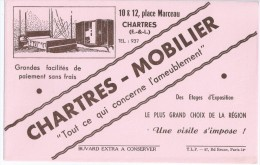 """""""  CHARTRES   -  MOBILIER      """"    Chartres   Eure Et Loir     -   Ft  =  21 Cm  X 13.5 Cm - Buvards, Protège-cahiers Illustrés"""